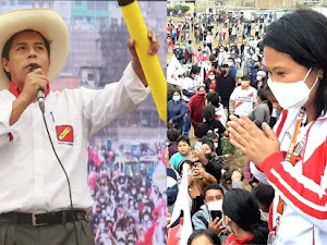 Resultados ONPE al 100%: Pedro Castillo 50.20% y Keiko Fujimori 49.80%
