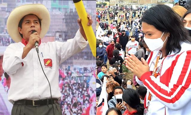 Pedro Castillo ganó a Keiko Fujimori, según ONPE al 100%
