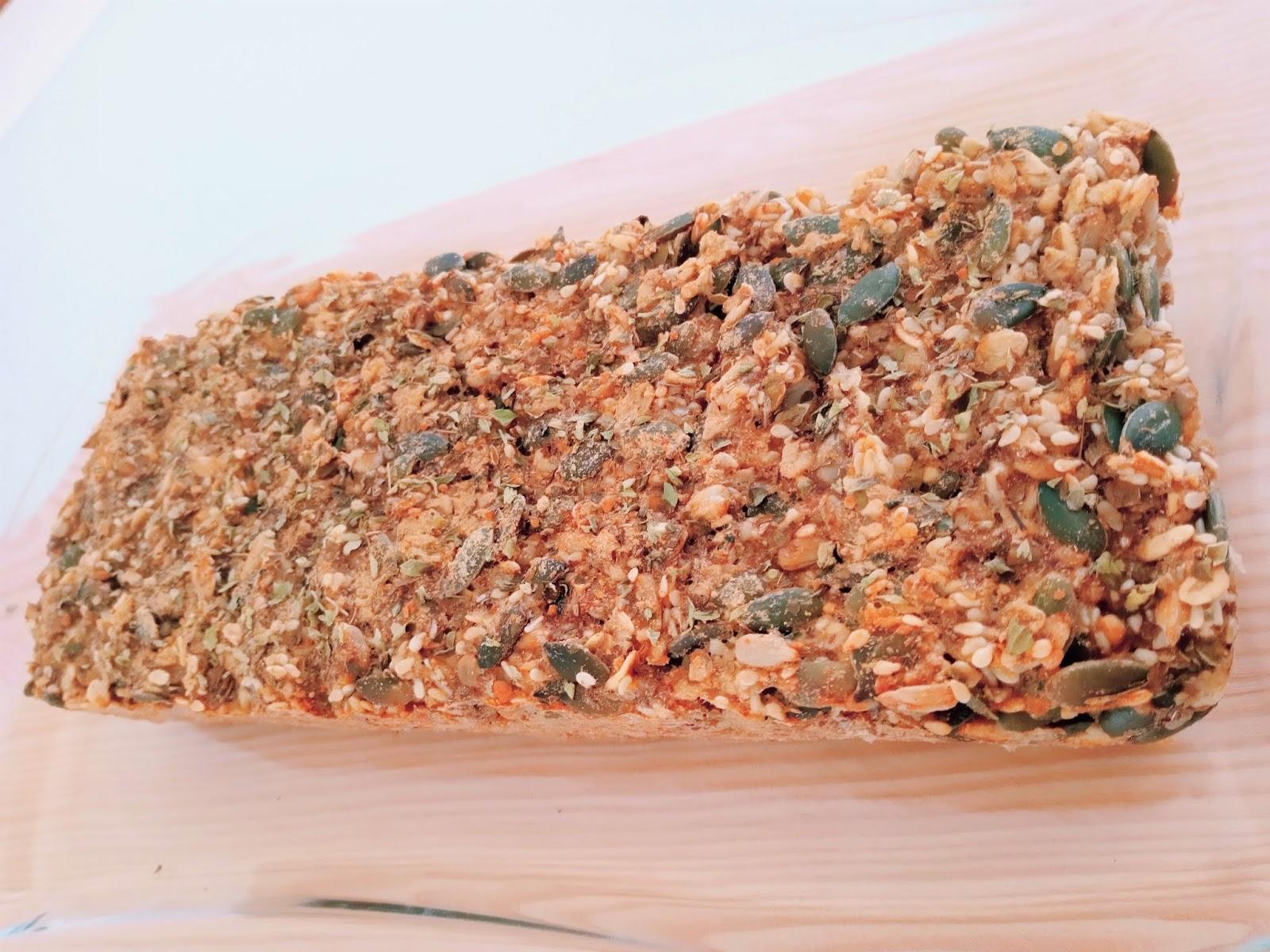 Pão de sementes sem glúten