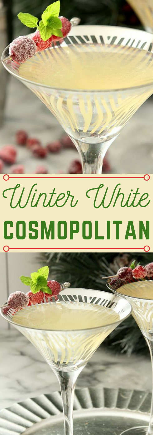 WINTER WHITE COSMOPOLITAN #drink #white #cocktail #summer #smoothie
