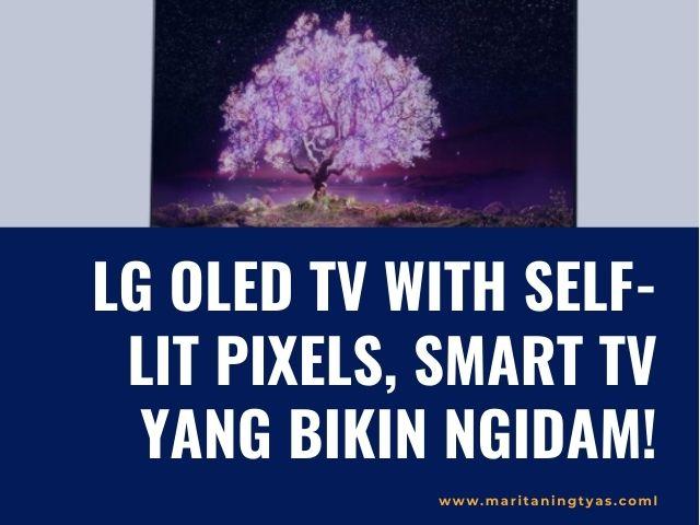 lg oled tv with self-lit pixels