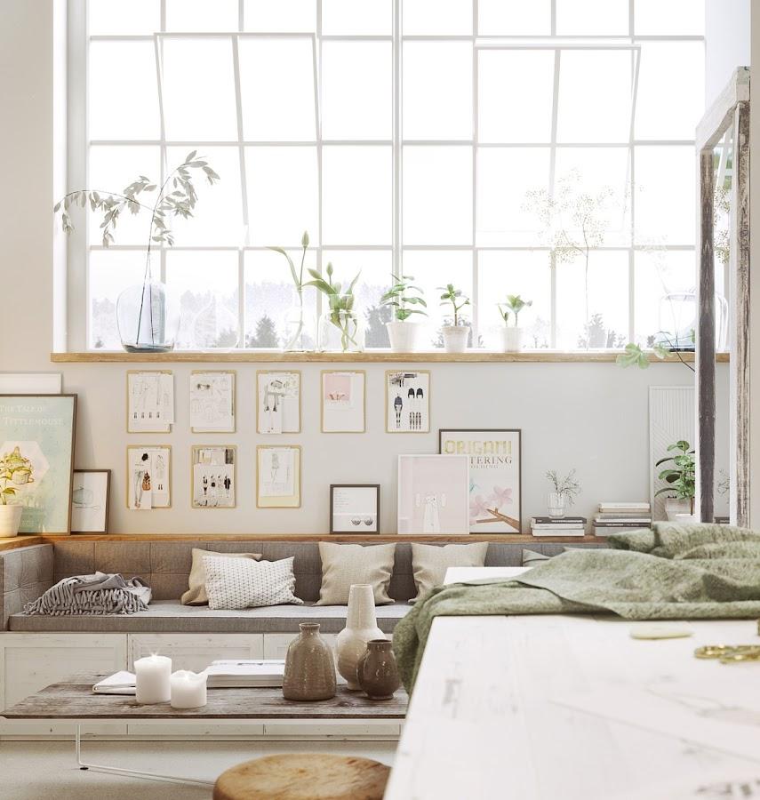 sofa, cuadros, laminas, ventanas industriales, cojines, funda cojin, mesa auxiliar, mesa sofa, interiorismo, barcelona, alquimia deco, decoracion nordica,