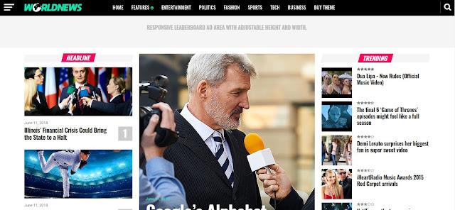 World News - Template Blog Megazine Profesional