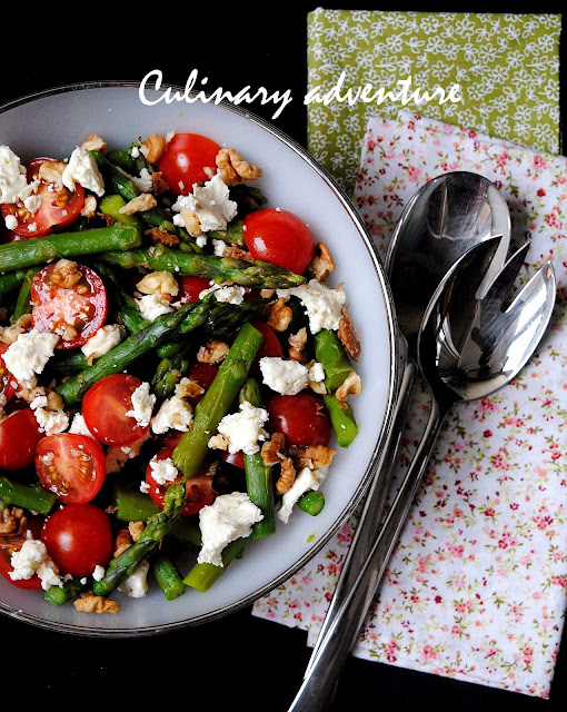 Салата с аспержи домати и сирене / Asparagus Tomato and Feta Salad