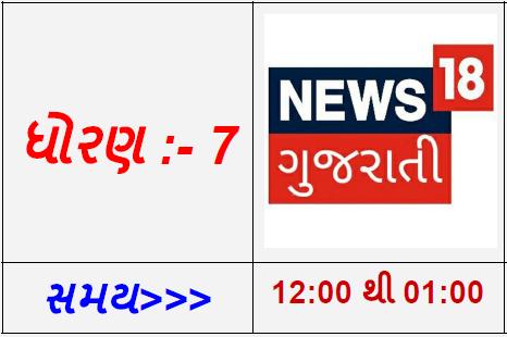STD 7 - NEWS 18 Gujarati Live Karyakram