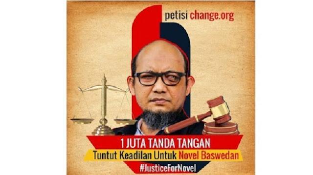 Puluhan Ribu Orang Teken Petisi Hukum Berat Penyiram Novel Baswedan