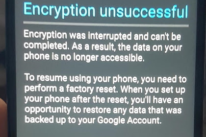 Mengatasi Encryption Unsuccessful Fix 100% Work