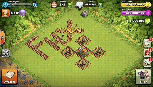 download clash of clans mod fhx terbaru v8 th 11 update