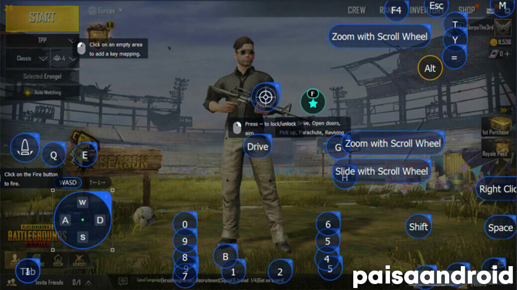Tencent gaming buddy PUBG mobile personaliza los controles AA