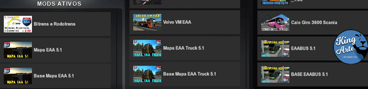 Maior mapa brasileiro para Euro Truck Simulator 2: Mapa EAA