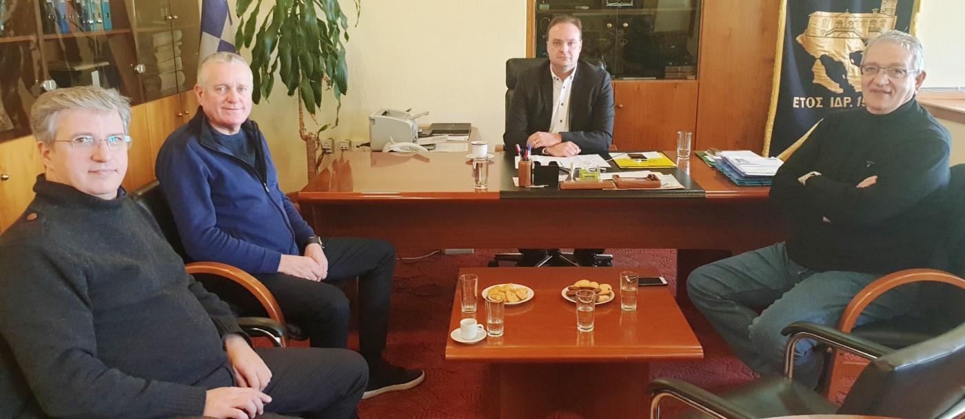 Συνάντηση του Δημάρχου Αριστοτέλη με τη Διοίκηση «Eldorado Gold» και «Ελληνικός Χρυσός» για αντισταθμιστικά οφέλη και εγκαταστάσεις Κοκκινόλακα