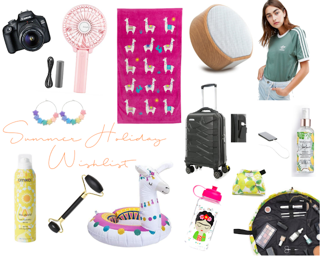 a collage of items i want to buy for my summer holiday