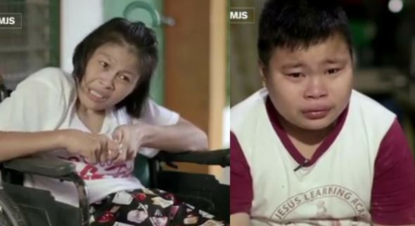 12-year-old boy takes care and brings ailing mother to school with him everyday