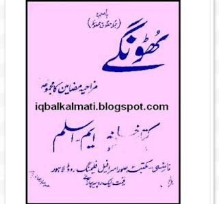 Urdu Funny Book Thoongy Pdf