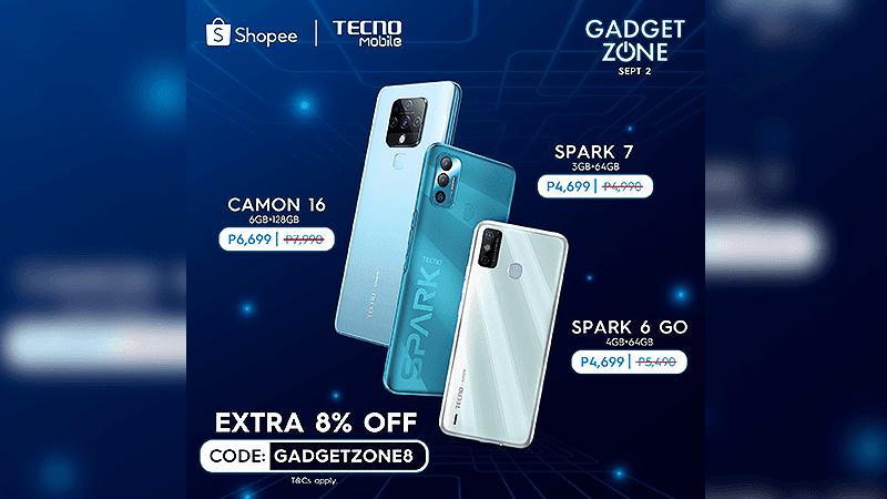 TECNO Mobile announces deals on Shopee Gadgetzone for September