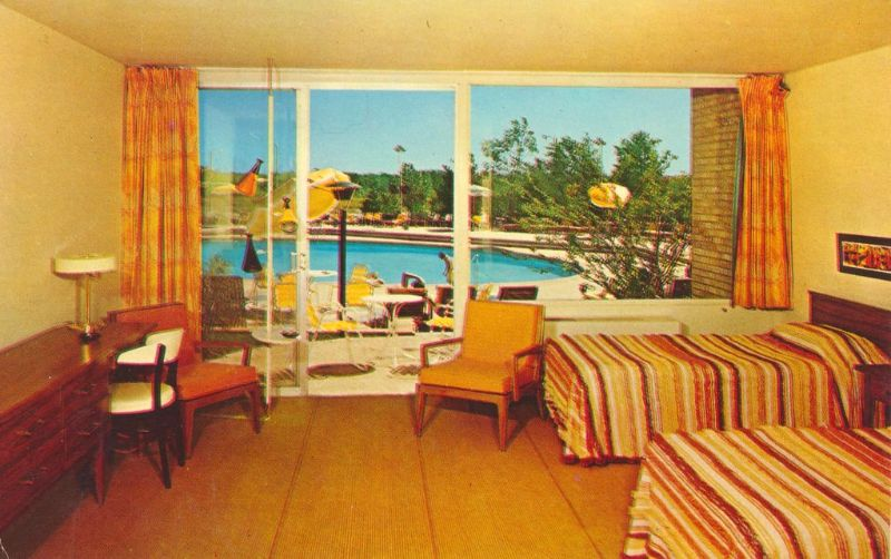 Room For a Night Cool Pics Show Hotel Rooms of the US in the 1950s and 60s  vintage everyday