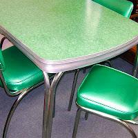 yeşil formika masa sandalye