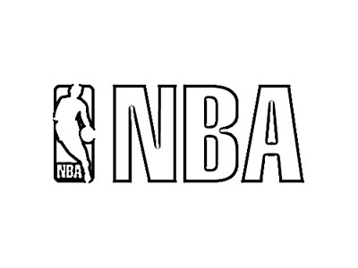 National Basketball Association NBA Logo Sketch - Image Sketch