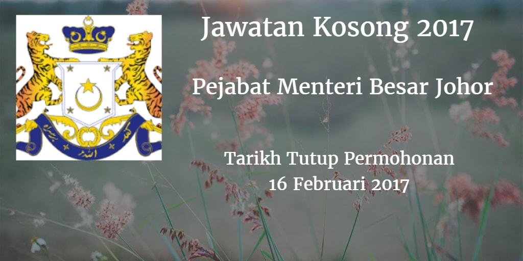 Jawatan Kosong PMBJ 16 Februari 2017