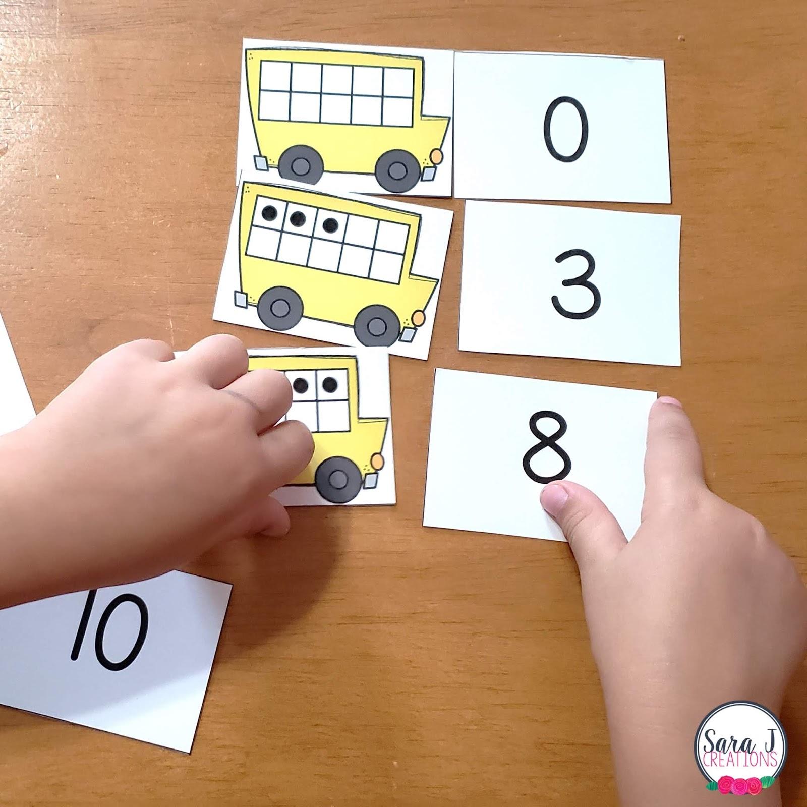 Set of 2 School Bus K-12 Picture Frames PHOTO FRAME
