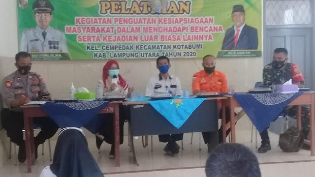 Kelurahan Cempedak Kecamatan Kotabumi Gelar Kegiatan Penguatan Kesiapsiagaan Masyarakat Dalam Menghadapi Bencana Serta Kejadian Luar Biasa Lainnya
