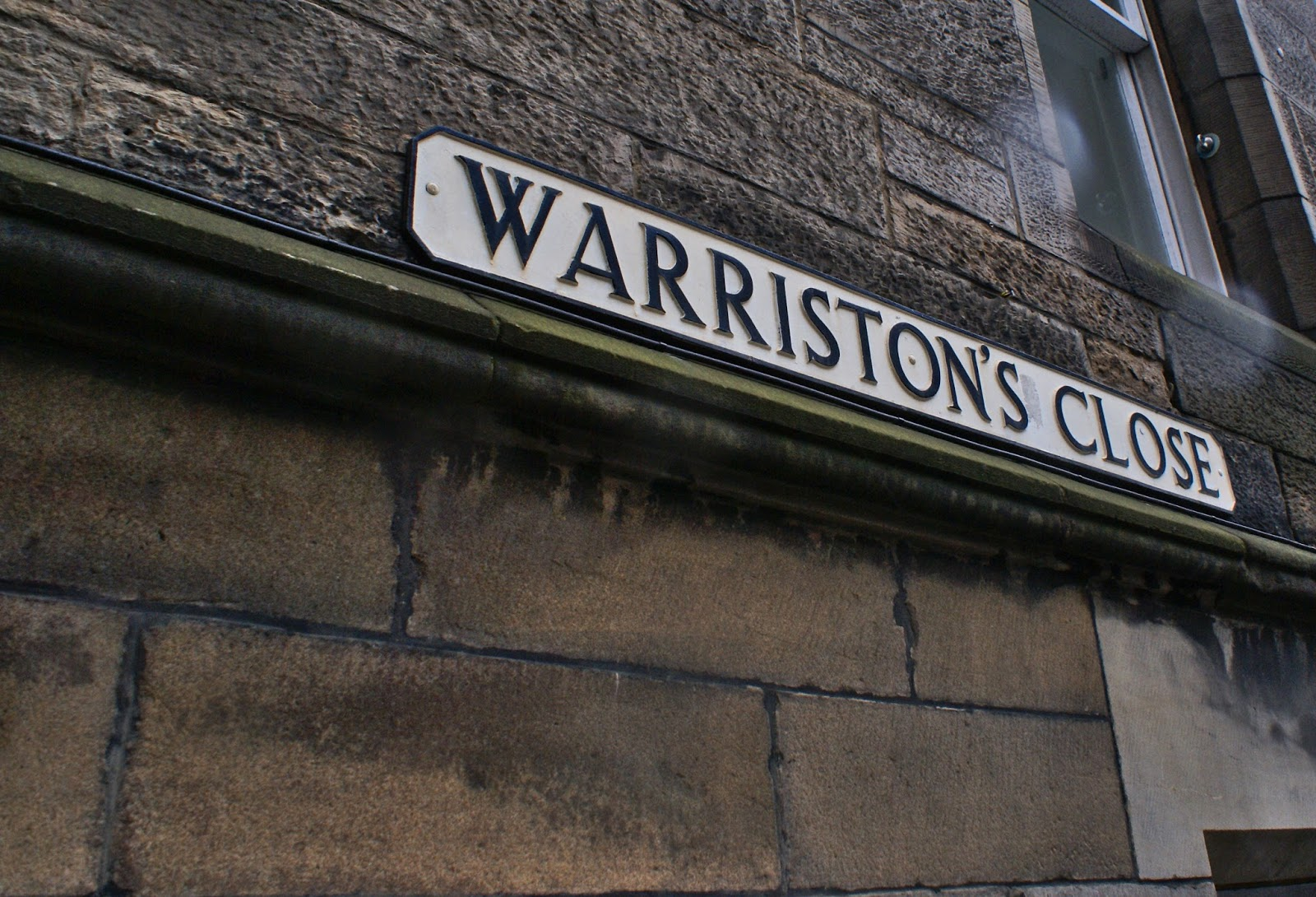 edinburgh scotland uk britain travel street sign warriston's close