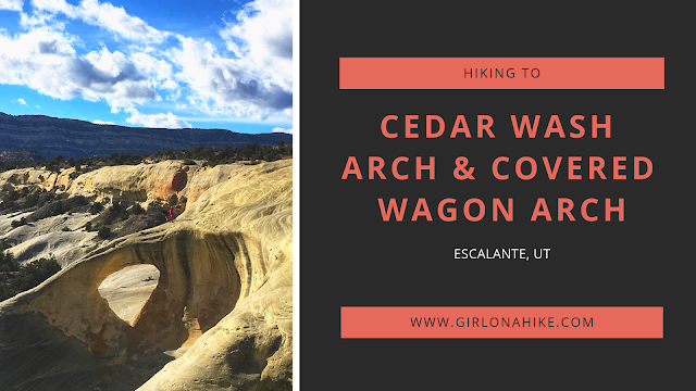 The Ultimate Guide - Dog Friendly Hikes in Escalante, Utah! Hike to Cedar Mesa Arch and Covered Wagon Arch