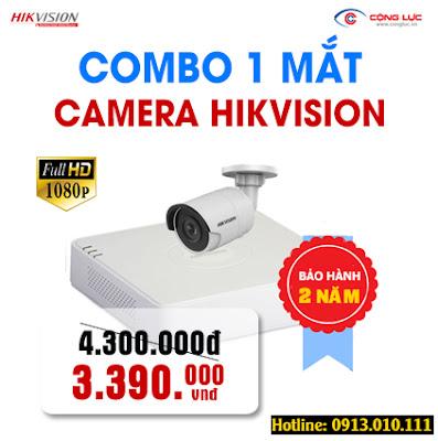 báo giá trọn bộ 1 mắt camera hikvision 2.0mp giá rẻ nhất hải phòng
