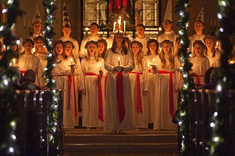 Santa Lucia, seu dia na Suécia.