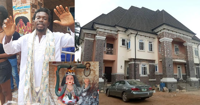 """""""There is power in tradition"""" – Native Doctor celebrates his new mansion"""