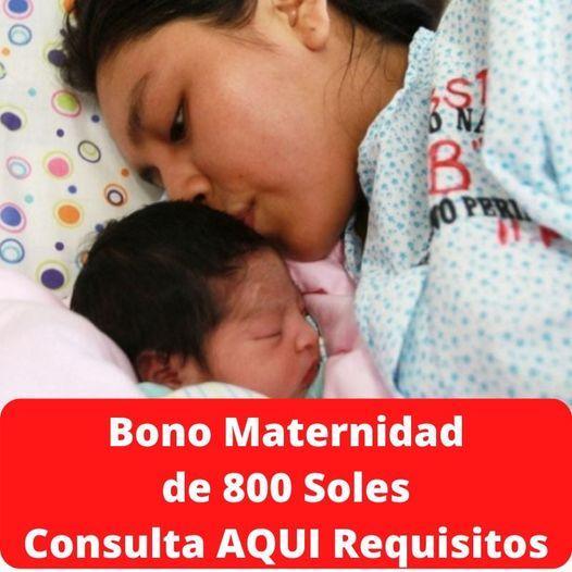 Bono Por Maternidad: Requisitos Y Formulario Para Cobrar El Bono De S/820 Por Lactancia