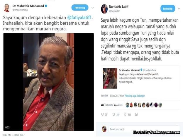 Tun Mahathir Kagumi Keberanian Fathia Latiff Persoal RCI Forex