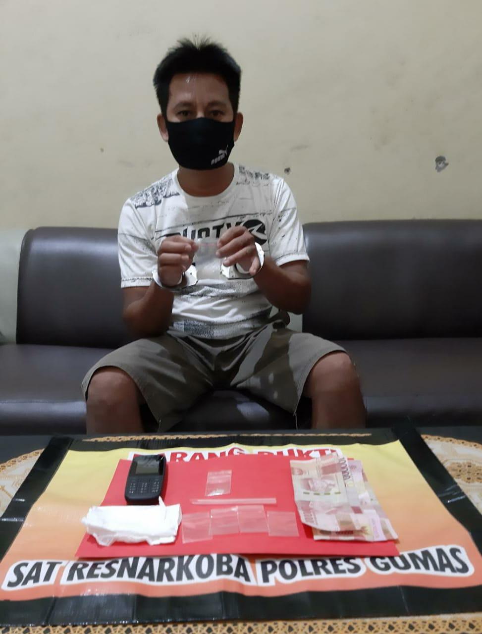 Jadi Budak Sabu, Satresnarkoba Polres Gumas Amankan 3,86 Gram Dari Tangan BY