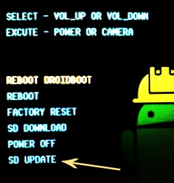 Flashing For Droidboot Menu