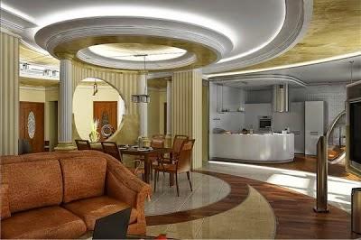 Living room design - Unique false ceiling designs ...