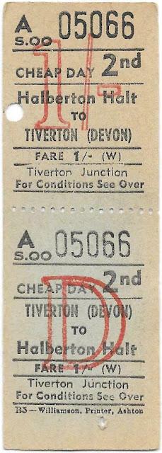 Halberton Halt to Tiverton Train Ticket