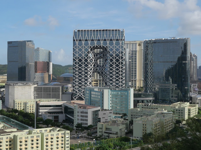 view of Morpheus hotel from the Grand Taipa Hiking trail