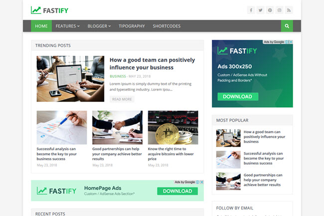[Free Download] Fastify Blogger Template