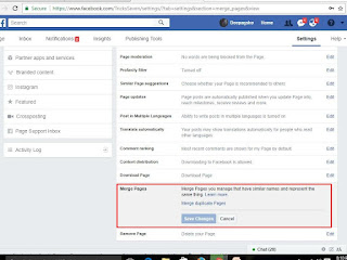 Facebook Page General Settings