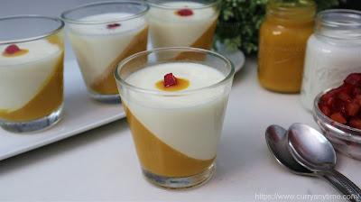 Mango Vanilla Panna Cotta / Pudding