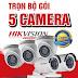 Trọn bộ 5 Camera Hikvision HD 1.0 Mpx