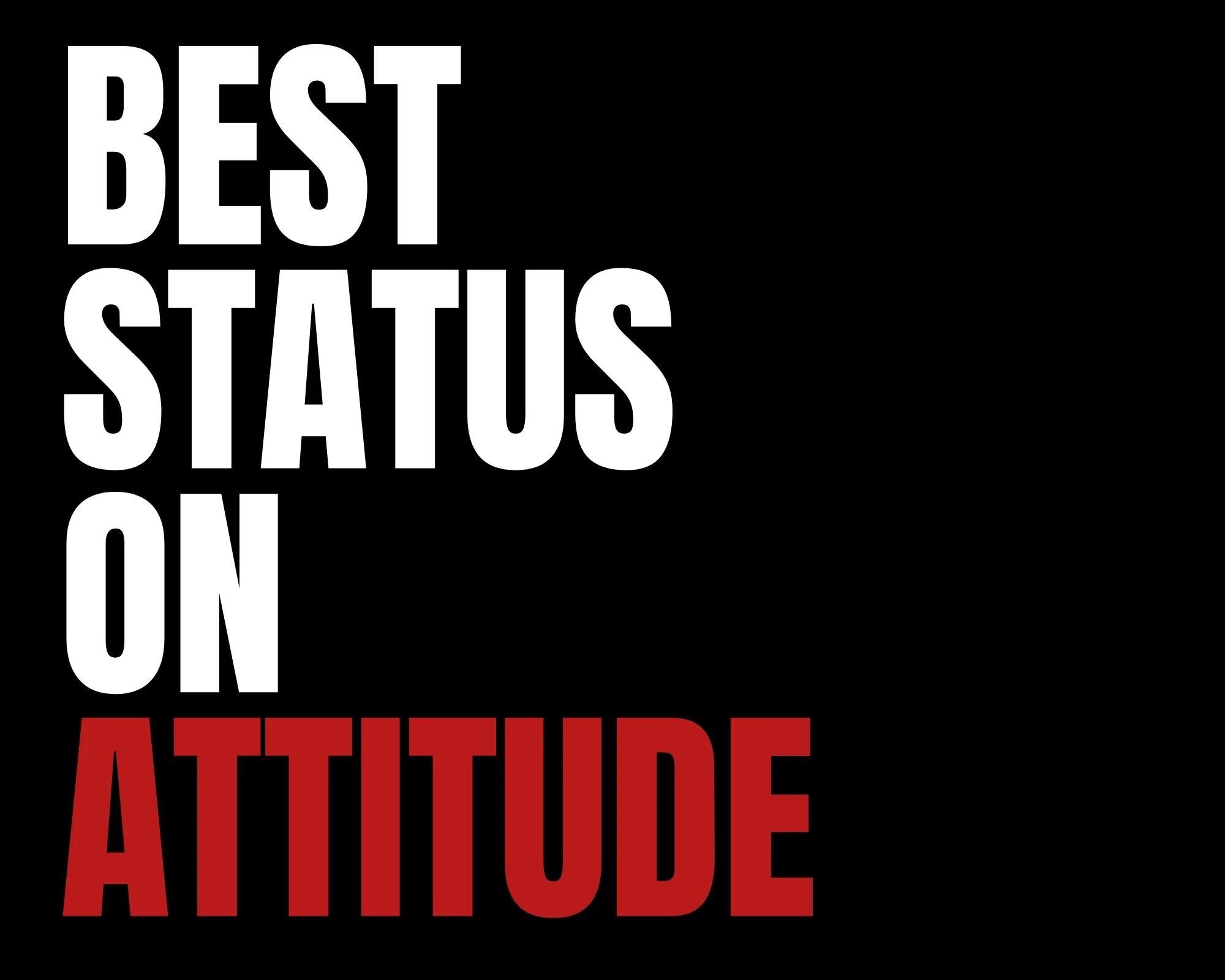 status on attitude