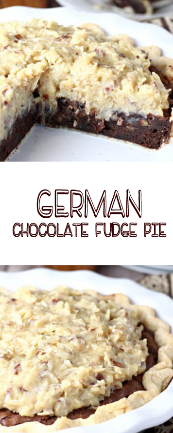 Recipe GERMAN CHOCOLATE FUDGE PIE