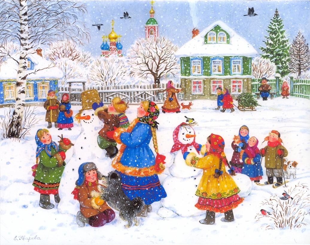 Картинки и иллюстрации нового года зимы для фотошопа