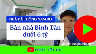 Bán nhà quận Bình Tân dưới 6 tỷ