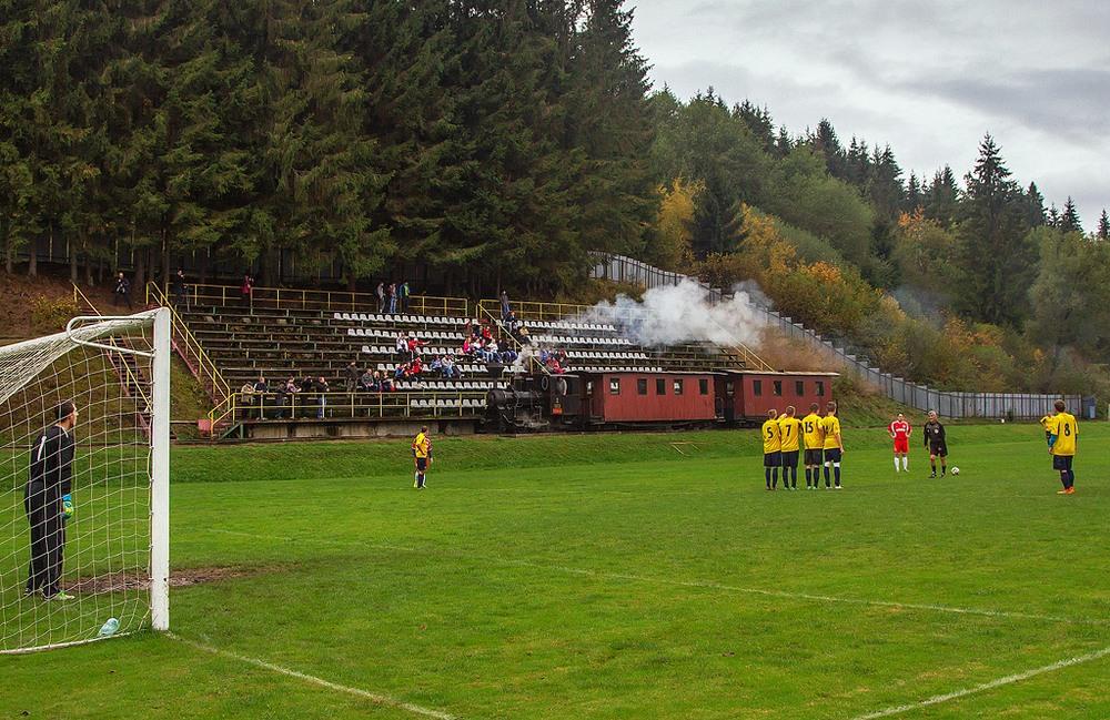 Trains Through a Football Stadium