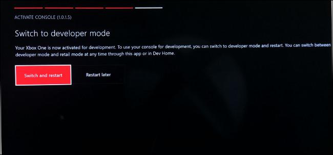 قم بالتبديل إلى وضع المطور على Xbox