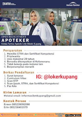 Lowongan Kerja Kimia Farma Apotek Unit Bisnis Kupang Sebagai Apoteker