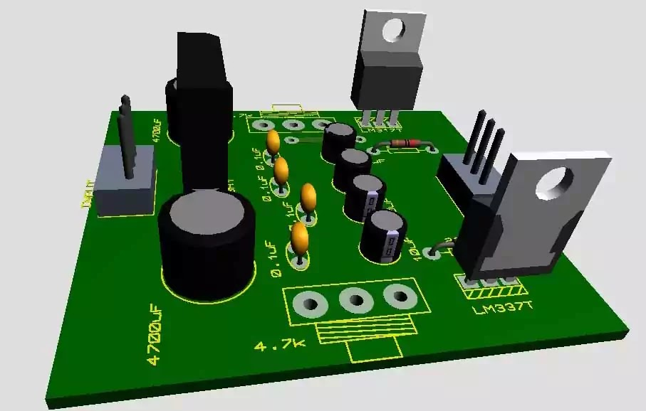 dual power supply 3D layout