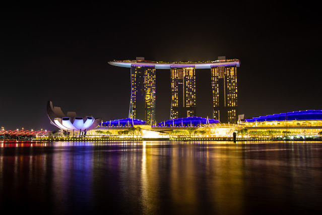 ArtScience Museum e Marina bay Sands-Singapore